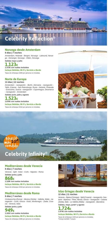 Viajes El Corte Inglés  Celebrity Cruises