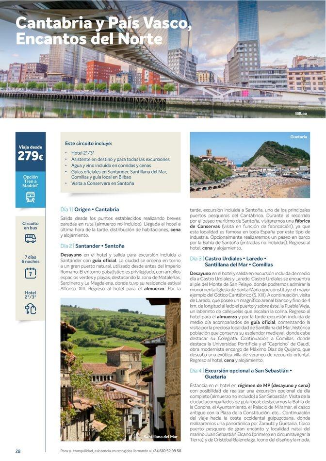 Viajes El Corte Inglés  Circuitos culturales zona Centro y Sur