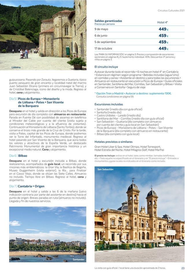 Viajes El Corte Inglés  Circuitos culturales zona Noroeste
