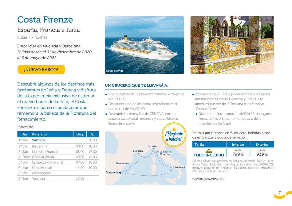Viajes El Corte Inglés  Costa Cruceros - Lo mejor de 2021