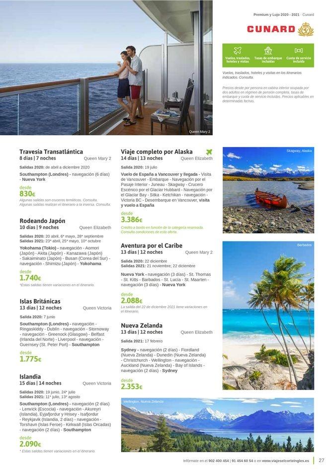 Viajes El Corte Inglés  Cruceros Premium
